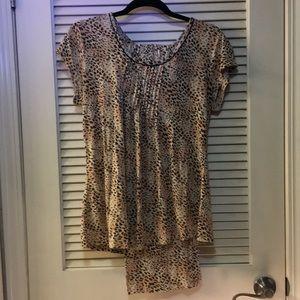 Ellen Tracy Leopard Print Pajamas